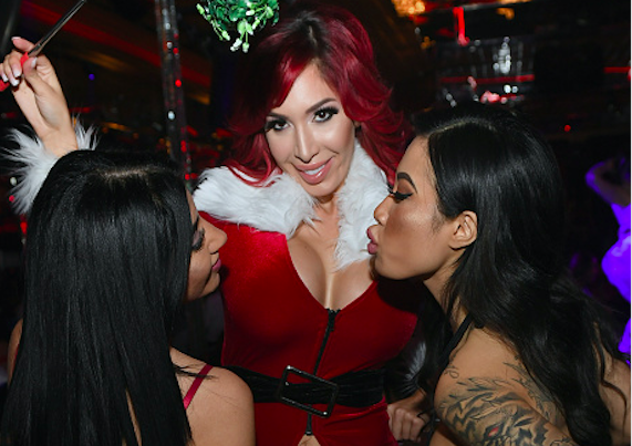 All The NSFW Pictures From Farrah's Christmas Strip Club Show!
